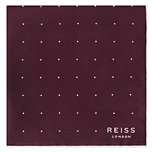Buy Reiss Helmar Silk Dot Pocket Square Online at johnlewis.com