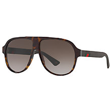 Buy Gucci GG0009S Aviator Sunglasses Online at johnlewis.com