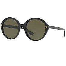 Buy Gucci GG0023S Round Sunglasses Online at johnlewis.com