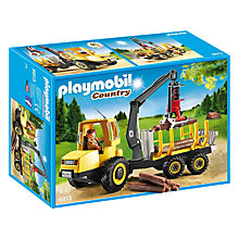 Buy Playmobil Timber Transporter with Crane Online at johnlewis.com