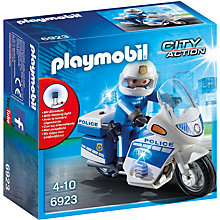 Buy Playmobil Police Motorbike With LED Light Online at johnlewis.com