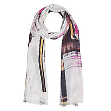 Buy French Connection Delphine Scarf, Neon Nectar/Multi Online at johnlewis.com