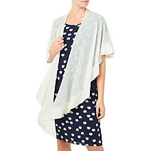 Buy Jacques Vert Border Chiffon Wrap, Ivory Online at johnlewis.com