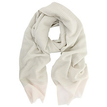 Buy Mint Velvet Stripe Scarf, Grey/Candy Floss Online at johnlewis.com