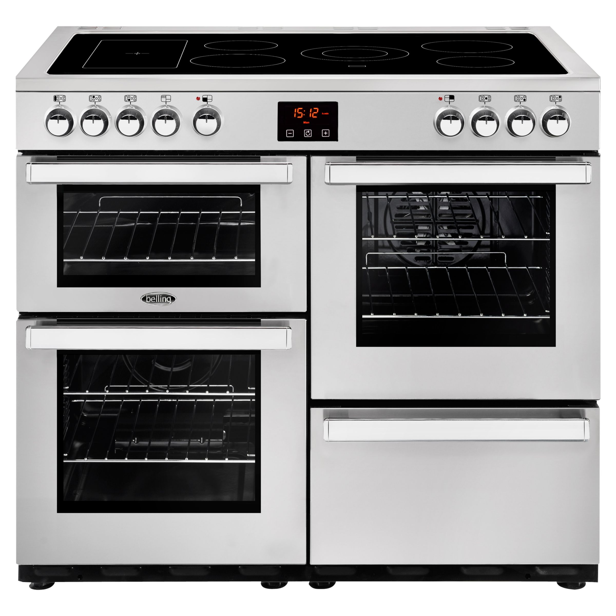 Belling Belling Cookcentre 100E Electric Range Cooker with Ceramic Hob