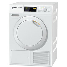 Buy Miele TDB130WP Eco Heat Pump Tumble Dryer, 7kg Load, A++ Energy Rating, White Online at johnlewis.com