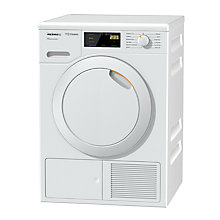 Buy Miele TDD120WP Freestanding Heat Pump Tumble Dryer, 8kg Load, A++ Energy Rating, White Online at johnlewis.com