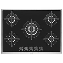 Buy AEG HG795450XB Gas Hob, Black Online at johnlewis.com