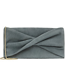 Buy Reiss Beau Suede Knot Evening Bag Online at johnlewis.com
