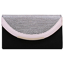 Buy Miss KG Harry Clutch Bag, Black/White Online at johnlewis.com
