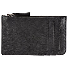 Buy Jaeger Leather Zip Card Holder, Black Online at johnlewis.com