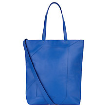 Buy Jaeger Lusted Leather Tote Bag, Bright Blue Online at johnlewis.com