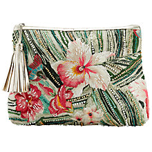 Buy Star Mela Malu Embroidered Clutch, Natural/Multi Online at johnlewis.com