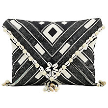 Buy Star Mela Kesi Embroidered Clutch, Black/Ecru Online at johnlewis.com