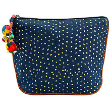 Buy Star Mela Mari Print Cosmetic Bag, Indigo Online at johnlewis.com