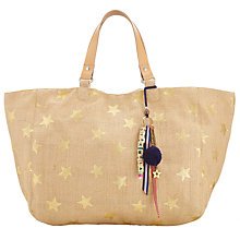 Buy Star Mela Lexi Star Print Tote Bag, Natural/Gold Online at johnlewis.com