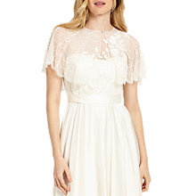 Buy Phase Eight Constance Beaded Cape, Ivory Online at johnlewis.com