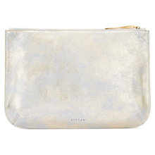 Buy Jigsaw Alana Large Leather Pouch Clutch Online at johnlewis.com