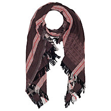 Buy French Connection Dona Jacquard Scarf, Monochrome Online at johnlewis.com