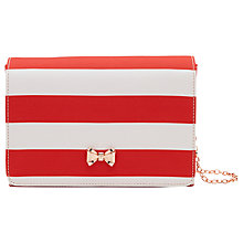 Buy Ted Baker Stripey Evening Bag, Red Online at johnlewis.com