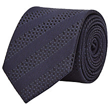 Buy Reiss Shaw Tonal Stripe Silk Tie, Navy Online at johnlewis.com