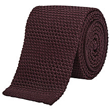 Buy Reiss Shaun Slim Knitted Silk Tie, Burgundy Online at johnlewis.com