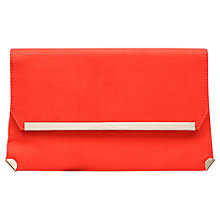Buy Carvela Gene Clutch Bag, Orange Online at johnlewis.com