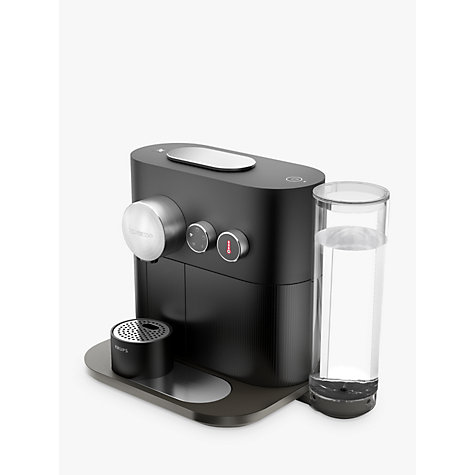 buy nespresso expert coffee machine by krups matt black john lewis. Black Bedroom Furniture Sets. Home Design Ideas