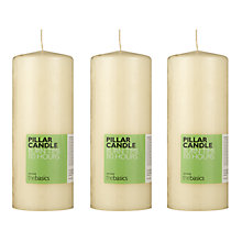 Buy John Lewis The Basics Large Pillar Candles, Ivory, Set of 3 Online at johnlewis.com