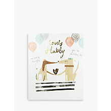 Buy Woodmansterne Lovely Hubby Birthday Card Online at johnlewis.com