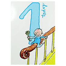 Buy Woodmansterne Whizz Down Stairs 1st Birthday Card Online at johnlewis.com