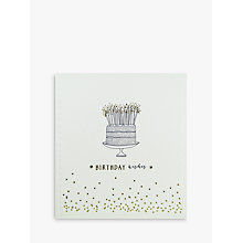 Buy Woodmansterne Birthday Wishes Cake Greeting Card Online at johnlewis.com