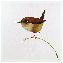 Buy Woodmansterne Wren On A Reed Greeting Card Online at johnlewis.com