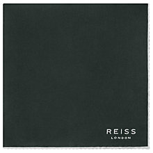 Buy Reiss Horner Sillk Piped Pocket Square, Emerald Online at johnlewis.com