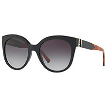 Buy Burberry BE4243 Cat's Eye Sunglasses, Matte Black/Grey Gradient Online at johnlewis.com