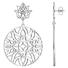 Buy Thomas Sabo Glam & Soul Lotus Flower Circle Drop Earrings, Silver Online at johnlewis.com