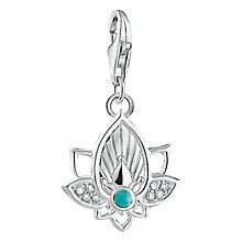 Buy Thomas Sabo Madala Lotus Charm, Silver/Blue Online at johnlewis.com