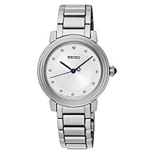 Buy Seiko SRZ479P1 Women's Bracelet Strap Watch, Silver/White Online at johnlewis.com