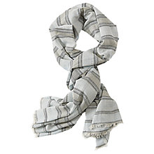 Buy Betty & Co. Long Striped Scarf, Blue/White Online at johnlewis.com