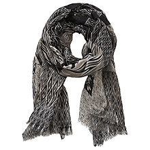 Buy Betty & Co. Long Graphic Print Scarf, Taupe/Black Online at johnlewis.com
