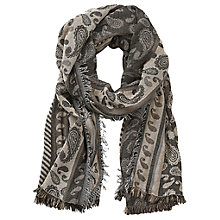 Buy Betty & Co. Long Paisley Weave Scarf, Black/Taupe Online at johnlewis.com