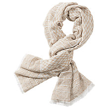 Buy Betty Barclay Zig Zag Scarf, Taupe/White Online at johnlewis.com