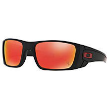 Buy Oakley OO9096 Fuel Cell Scuderia Ferrari Collection Wrap Sunglasses, Matte Black/Ruby Iridium Online at johnlewis.com