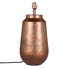 Buy Rohan Hammered Lamp Base Online at johnlewis.com