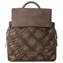 Buy Liebeskind Otsus7 Leather Backpack, Rhino Brown Online at johnlewis.com