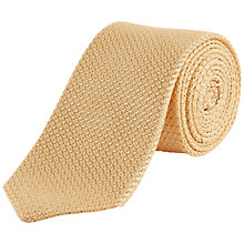 Buy Jaeger Silk Grenadine Tie, Golden Online at johnlewis.com