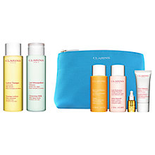 Buy Clarins Toning Lotion and Cleansing Milk, Normal/Dry Skin, with Gift Online at johnlewis.com