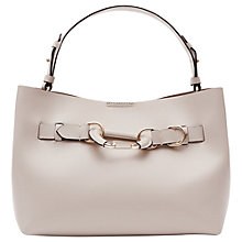 Buy Reiss Bleecker Hardware Detail Small Tote Bag, Cream Online at johnlewis.com