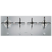 Buy Smeg PX140 Linea Aesthetic 100cm Integrated Gas Hob, Stainless Steel Online at johnlewis.com