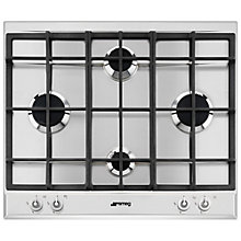 Buy Smeg P1640XT Linea Aesthetic Gas Hob, Stainless Steel Online at johnlewis.com